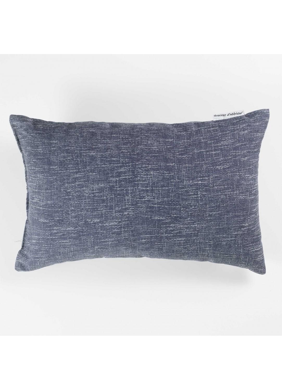 coussin rectangulaire effet chin navy perle noir lin homemaison vente en. Black Bedroom Furniture Sets. Home Design Ideas