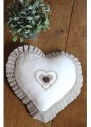 Coussin Coeur de 30 cm à