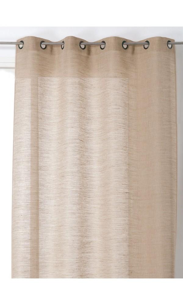 Rideau en Lin Aspect Toile de Jute - Lin - 135 x 250 cm