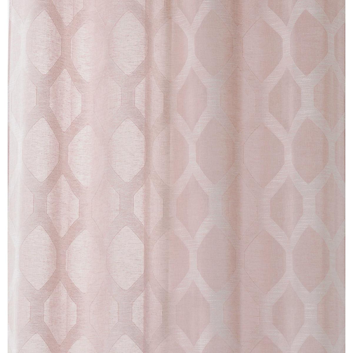 Tissu à motifs géométriques - Rose - 3.2 m