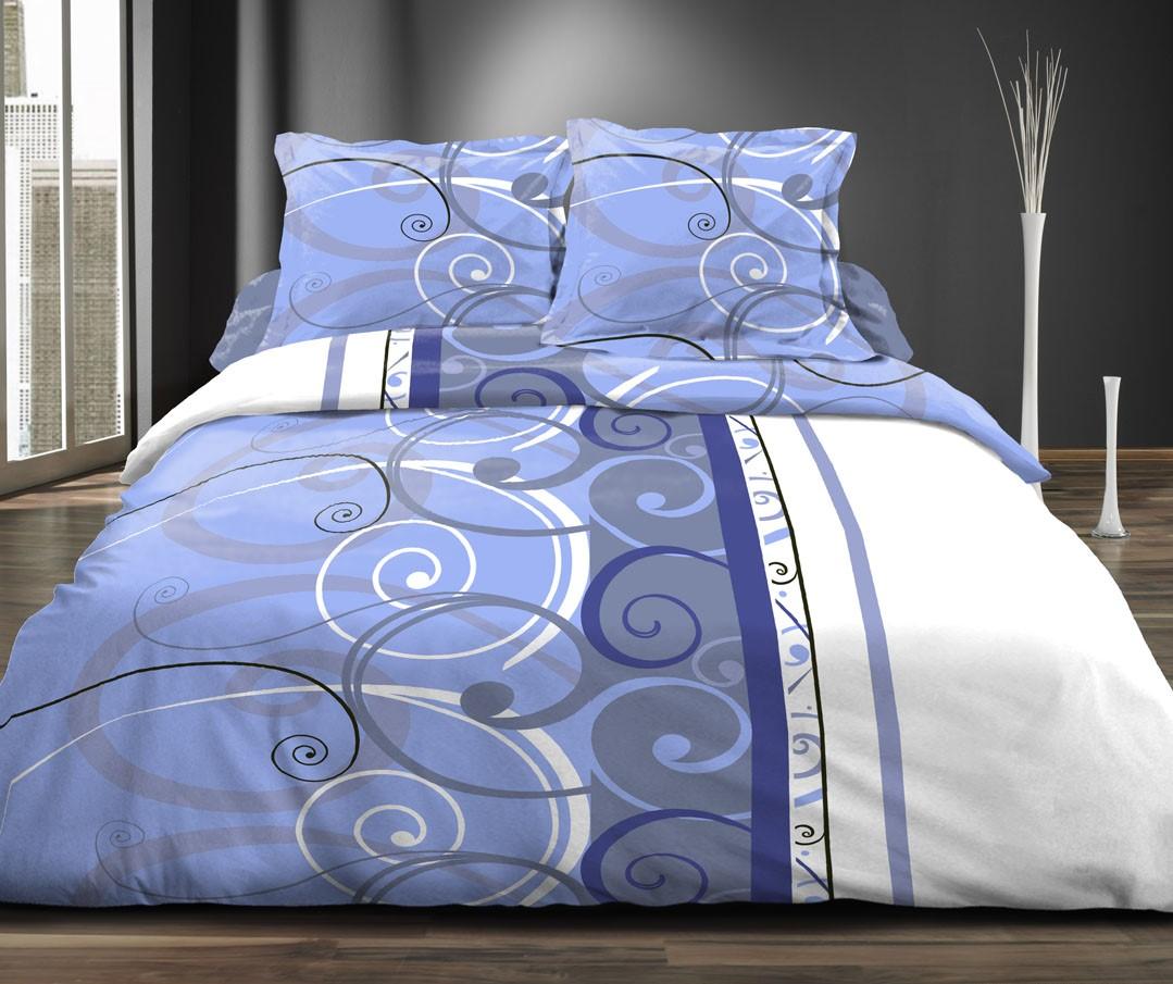 parure de couette arabesques et uni jean homemaison vente en ligne parures de lit. Black Bedroom Furniture Sets. Home Design Ideas
