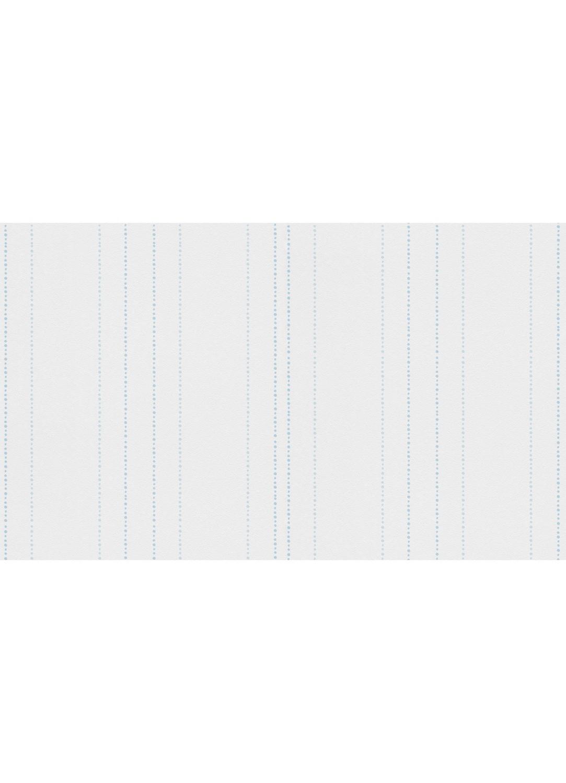 Papier Peint Rayures En Pointilles Ronds Blanc Bleu Ciel