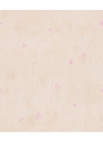 Papier Peint Petits Papillons Virevoletants au grès du Vent - MARRON SABLE - 10 m x 0,53 m