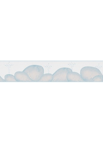 Frise Enfant Baleines Souriantes - Blanc - 5 m x 0,13 m