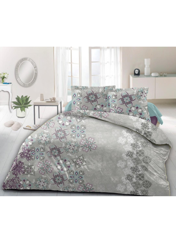 parure de couette fleurs stylis es mauve turquoise rouge homemaison vente en ligne. Black Bedroom Furniture Sets. Home Design Ideas