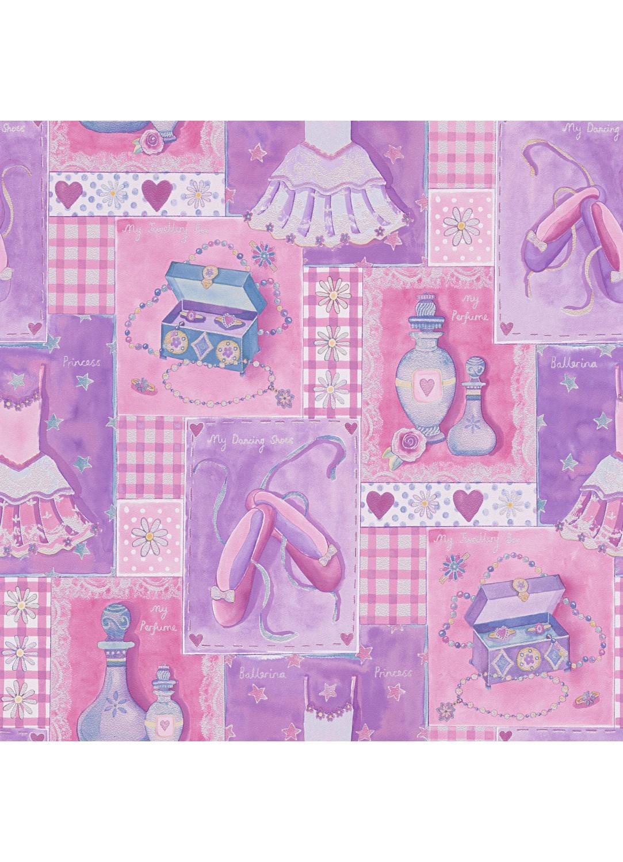 Papier Peint Au Paradis Des Petites Filles Violet Homemaison Vente En Ligne Papiers Peints