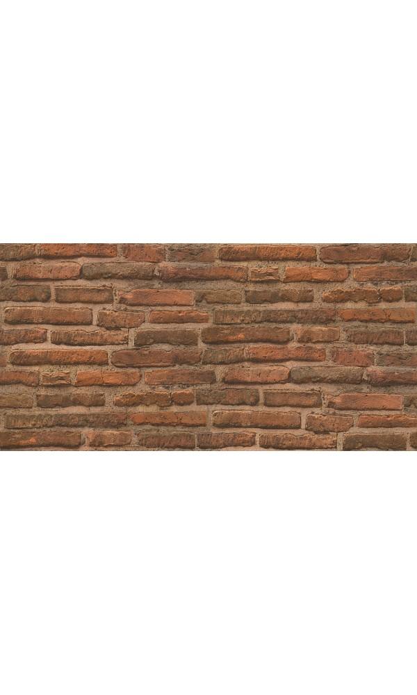 Papier Peint Mur de Briques - Orange - 10 m x 0,53 m