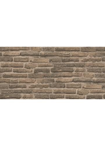 Papier Peint Mur de Briques - Brun - 10 m x 0,53 m
