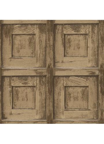 Papier Peint Bas relief aspect Bois - Chêne - 10 m x 0,53 m