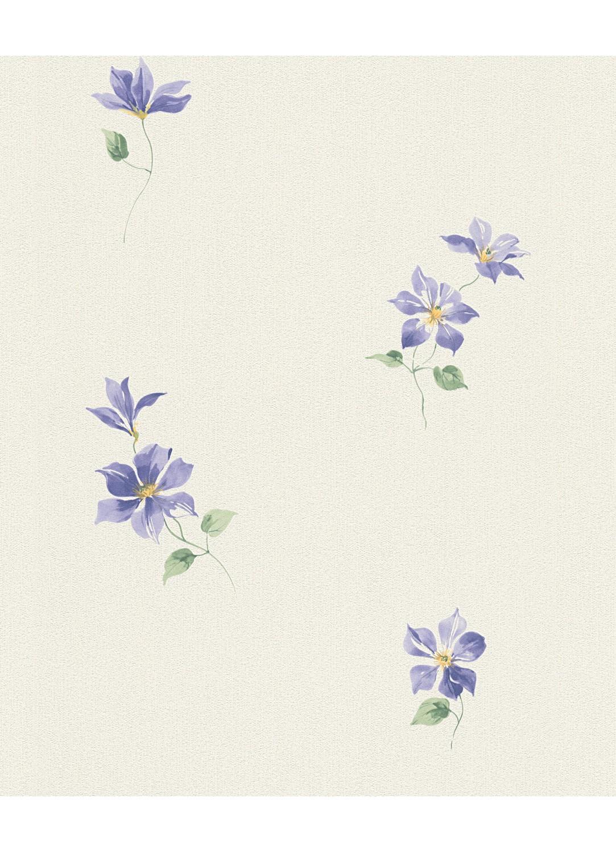 papier peint petites fleurs violettes blanc homemaison vente en ligne papiers peints. Black Bedroom Furniture Sets. Home Design Ideas