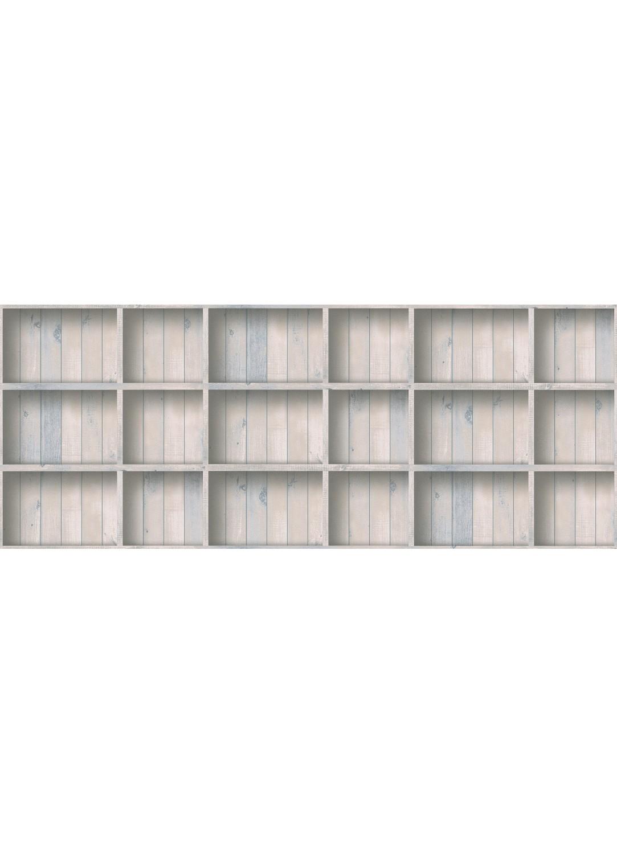 papier peint effet trompe l oeil caisson en bois bleu homemaison vente en ligne papiers. Black Bedroom Furniture Sets. Home Design Ideas