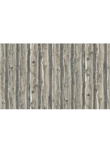 Papier Peint effet Planches Usées par le temps - Gris - 10 m x 0,53 m