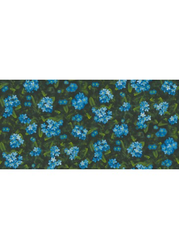 Papier peint Myosostis - Bleu - 10 m x 0,53 m