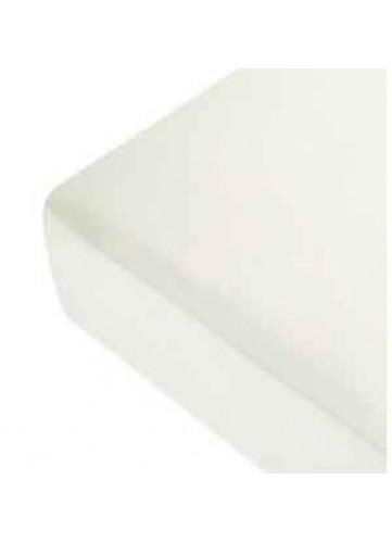 Drap Housse Uni en Lin - Blanc - 160 x 200 cm