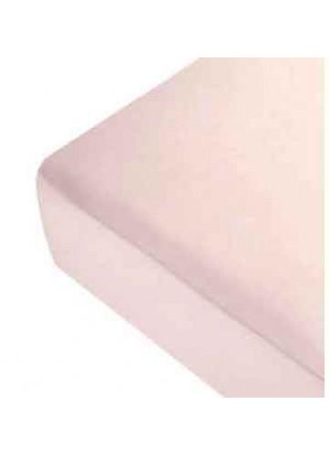 Drap Housse Uni en Lin - ROSE POUDRE - 160 x 200 cm