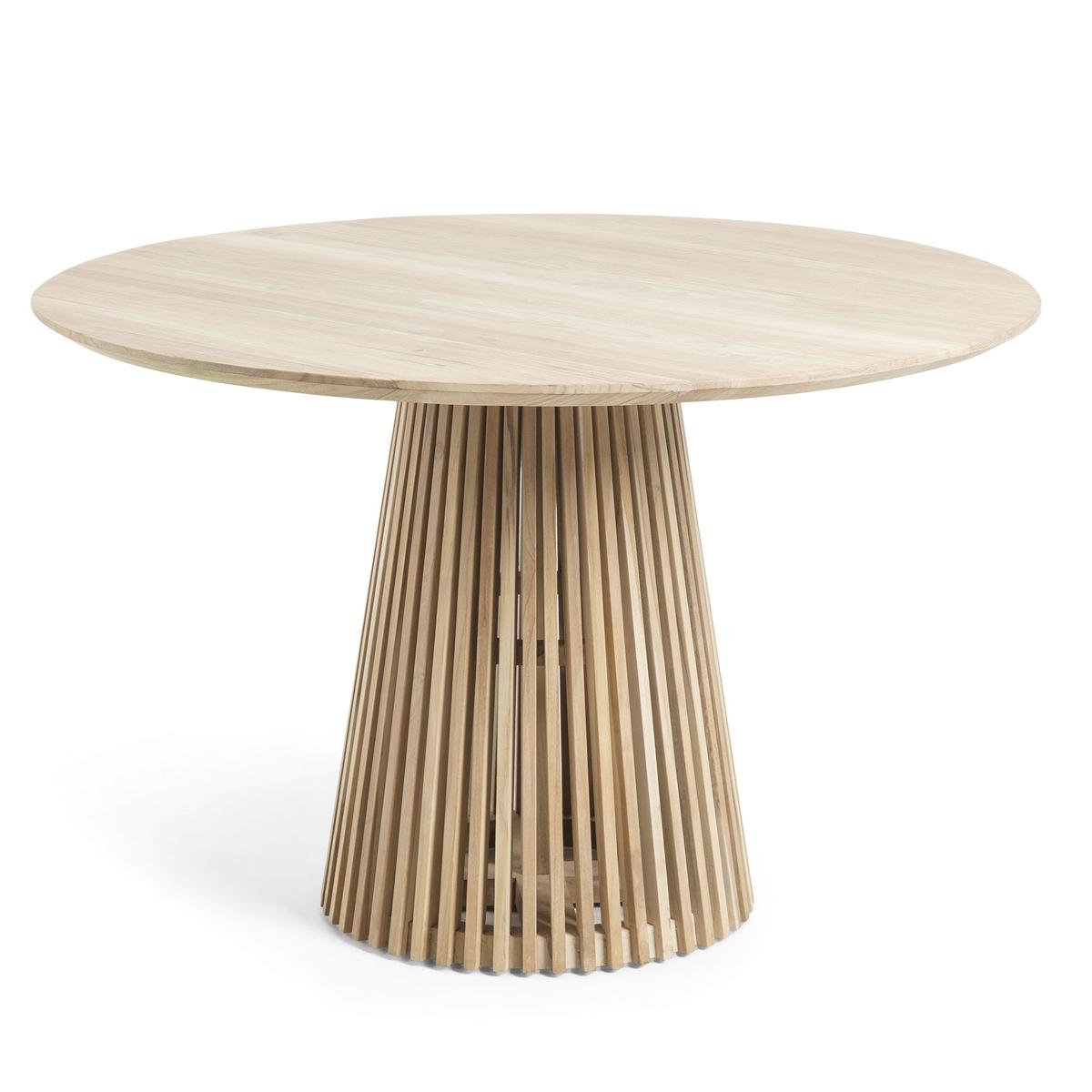 Table ronde en teck - Naturel - H 78 x Ø 120 cm