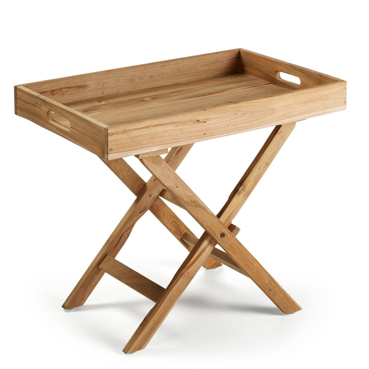 Table d'appoint pliante en teck - TECK - H 60 x 70 cm