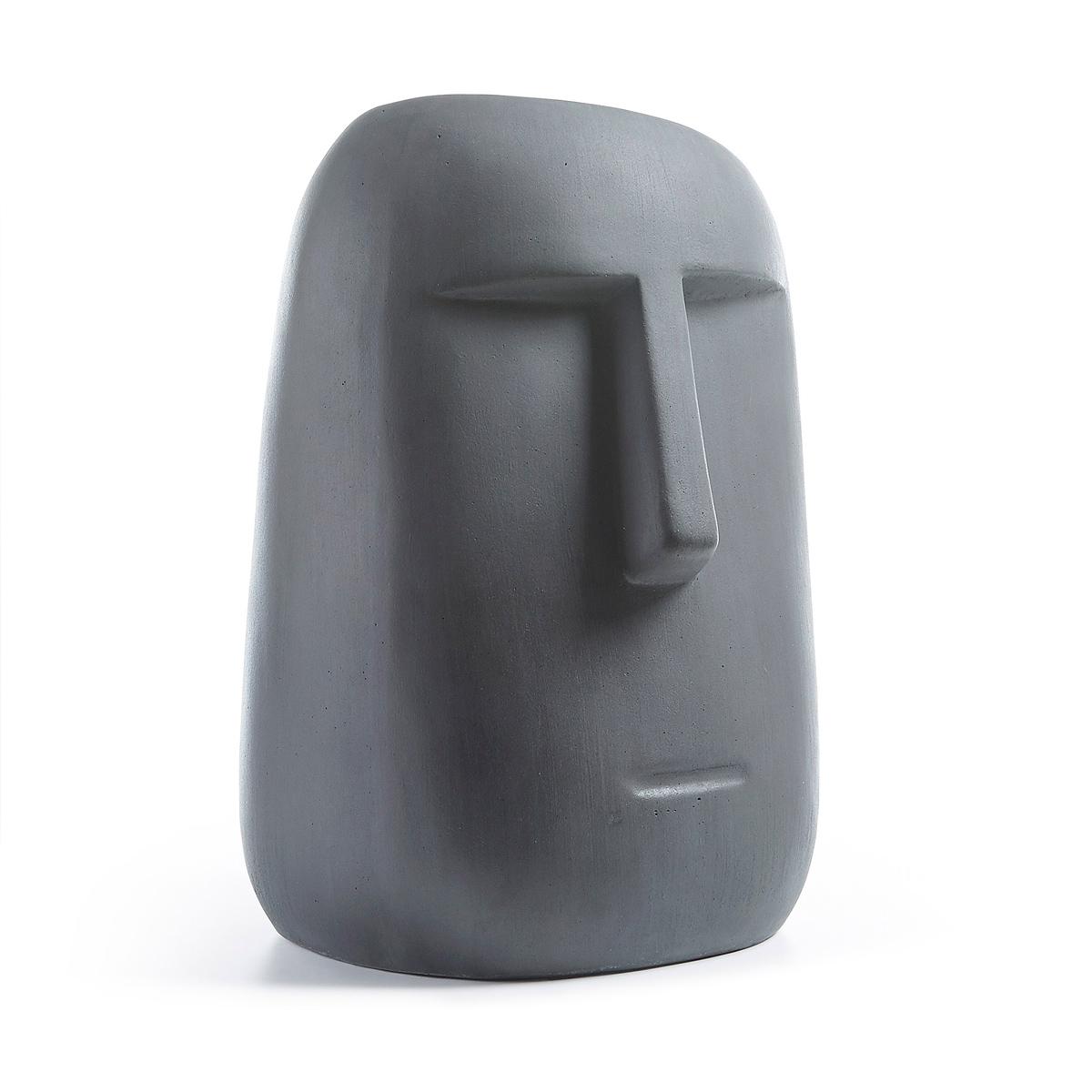 Figure moia en ciment - Gris anthracite - H 47 x 30 x 21 cm