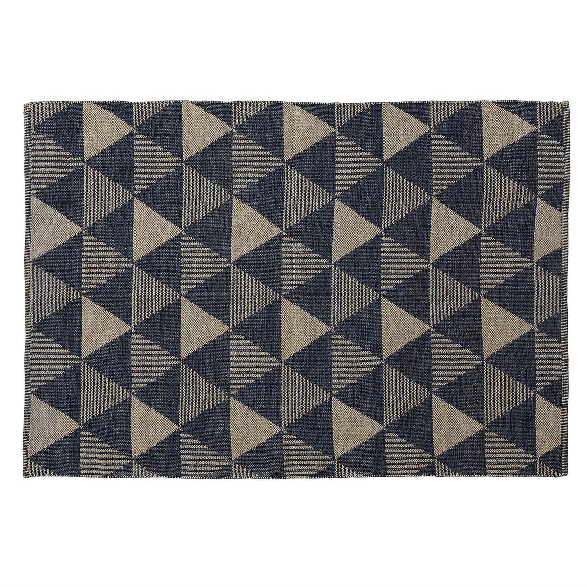 Tapis aux motifs bicolore - Bleu - 130 x 190 cm