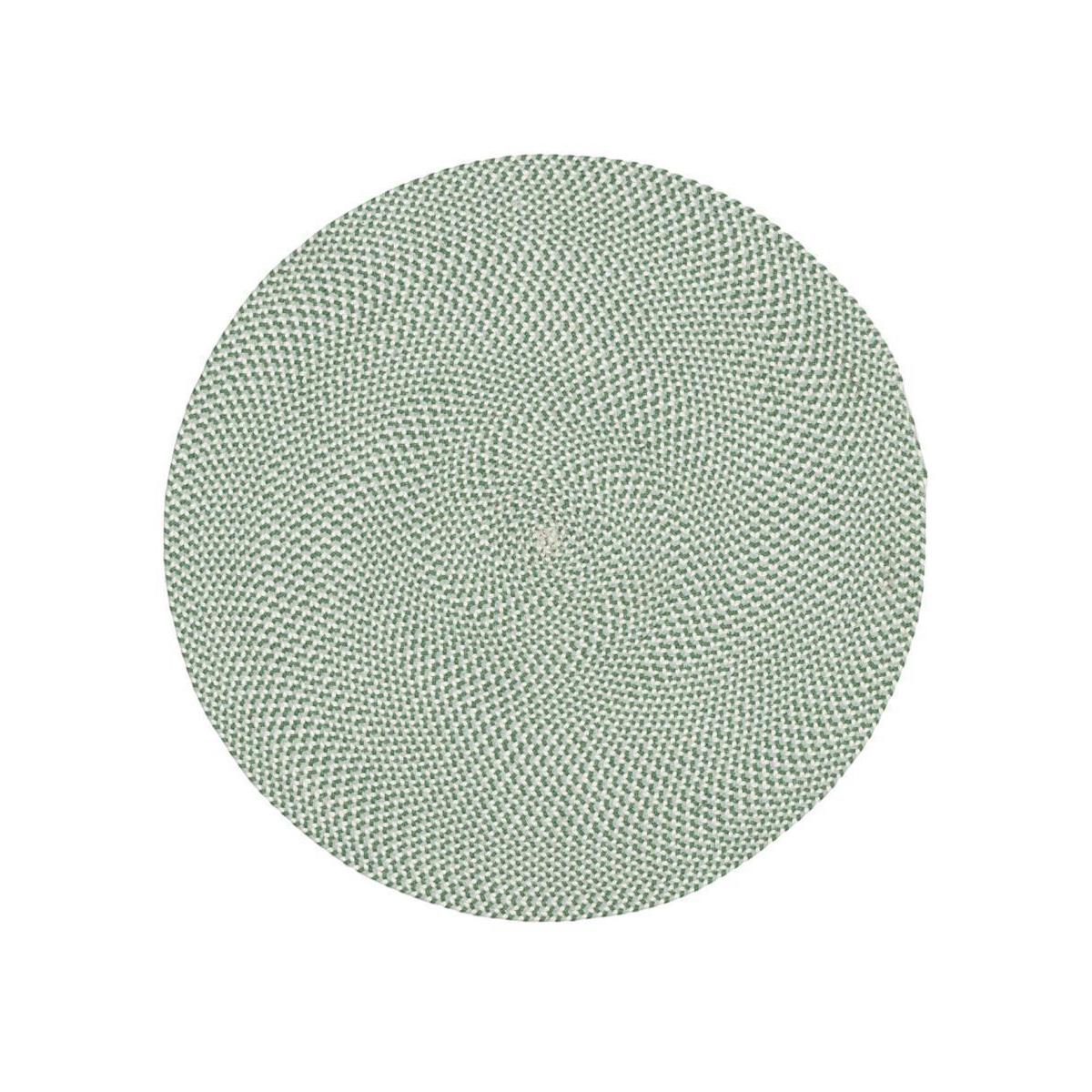 Tapis rond en tissu recyclé (Vert)