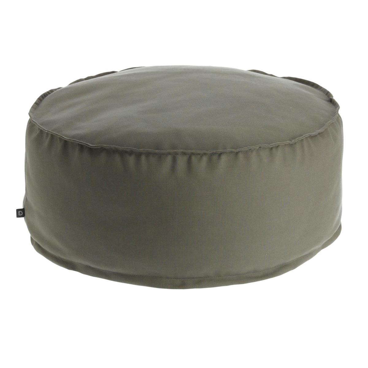 Pouf rond et uni - Gris - Ø 70 cm x H 40 cm