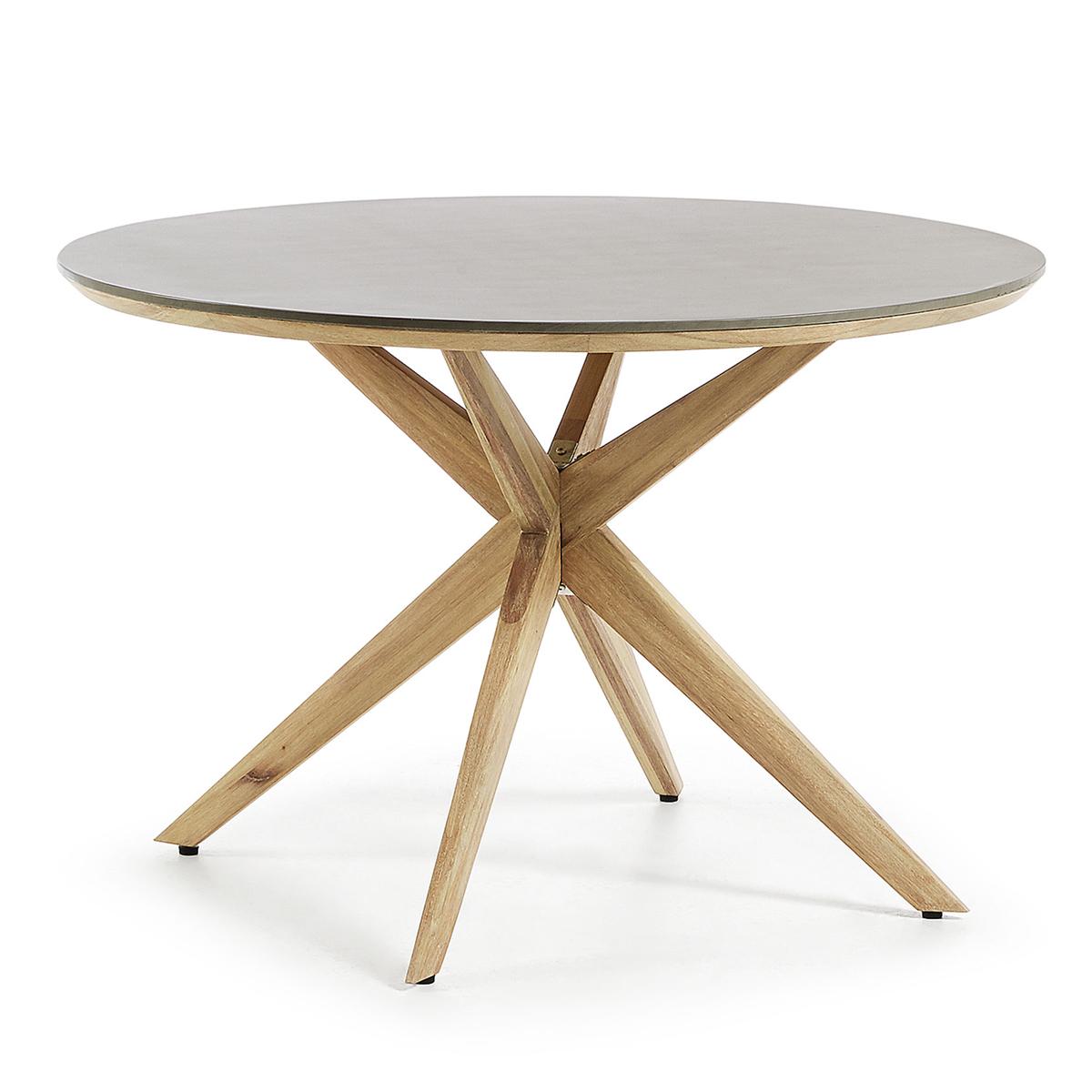 Table ronde avec pieds en étoile - Naturel - Ø 120 cm x 75 cm