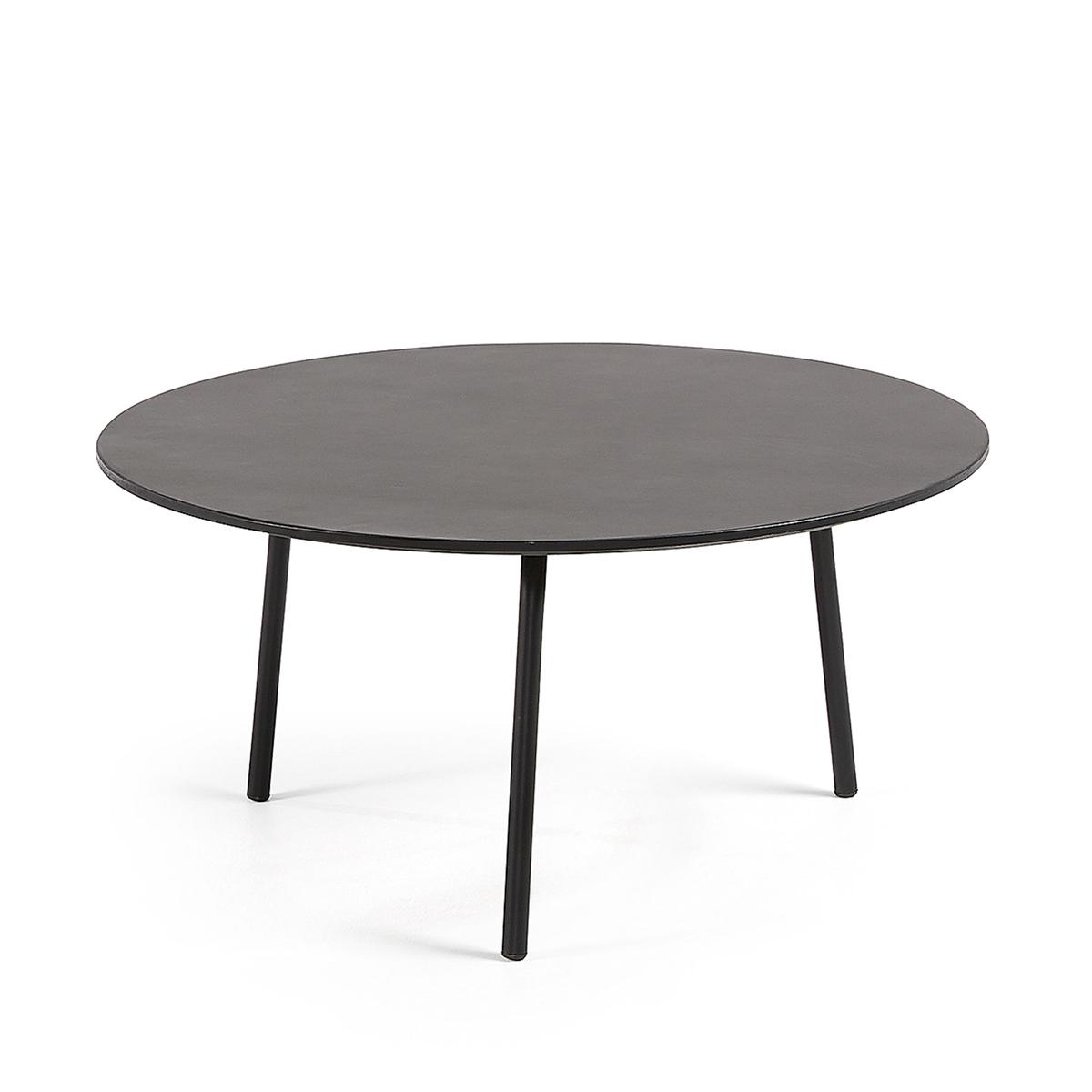Table basse ronde et noire - Noir - Ø 70 x H 33 cm