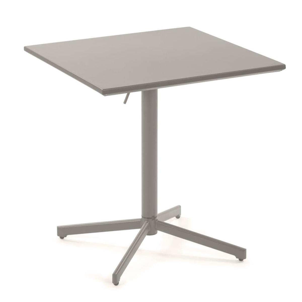 Table pliante en métal mat - Gris - H 75 x 54 cm