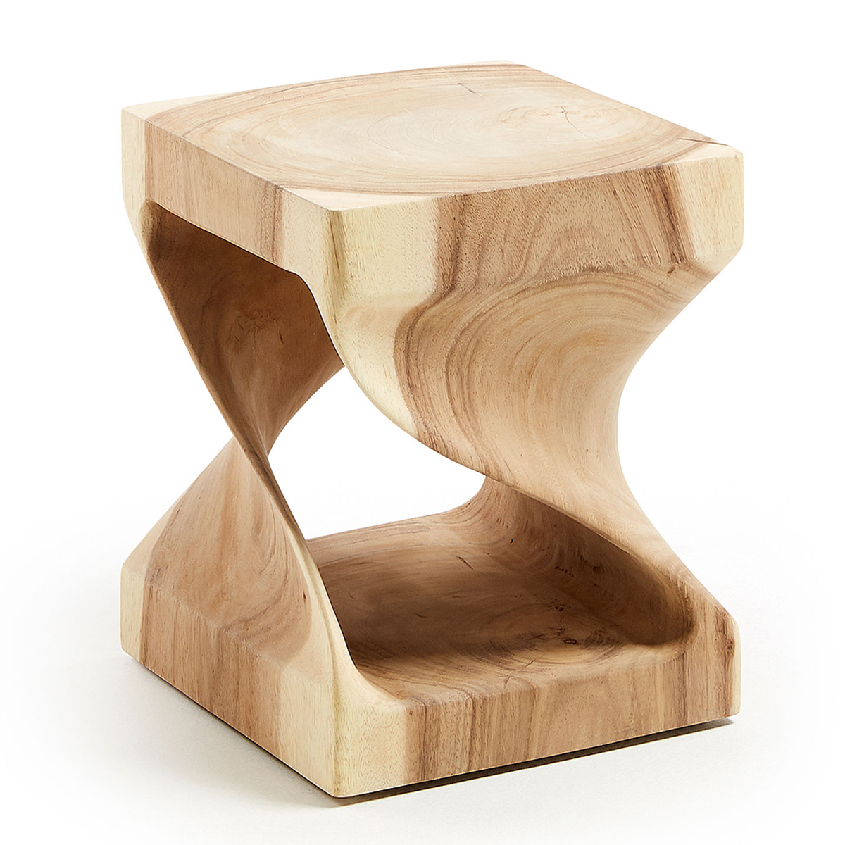 Table d'appoint carrée et ajourée en bois (Bois)