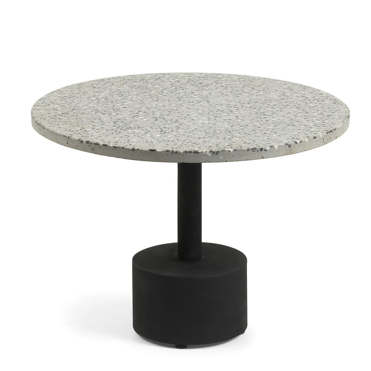 Table d'appoint avec plateau en terrazzo - Métal - Ø 55 cm x H 40 cm