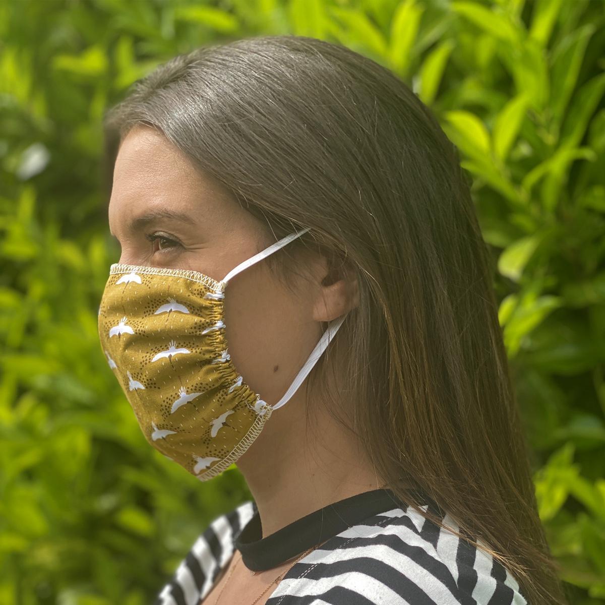 Lot de 4 masques en tissu caramel (Caramel)