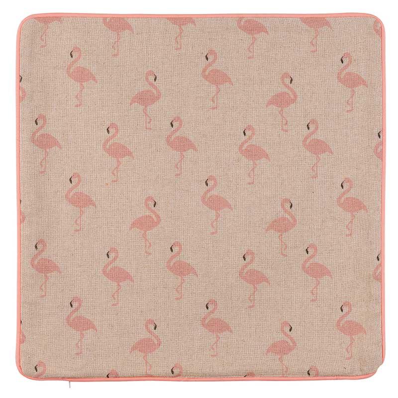 housse de coussin motif flamants roses rose homemaison vente en ligne housses de coussin. Black Bedroom Furniture Sets. Home Design Ideas
