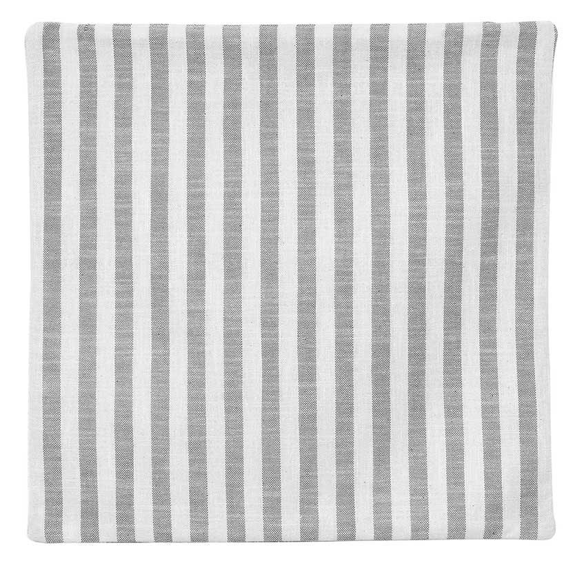 Housse de Coussin Rayée - BLANC GRIS - 40 x 40 cm