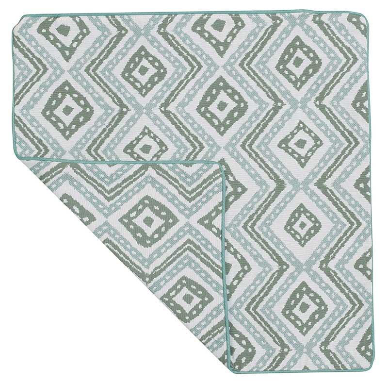 Housse de Coussin Esprit Azulejos - gris et blanc - 40 x 40 cm
