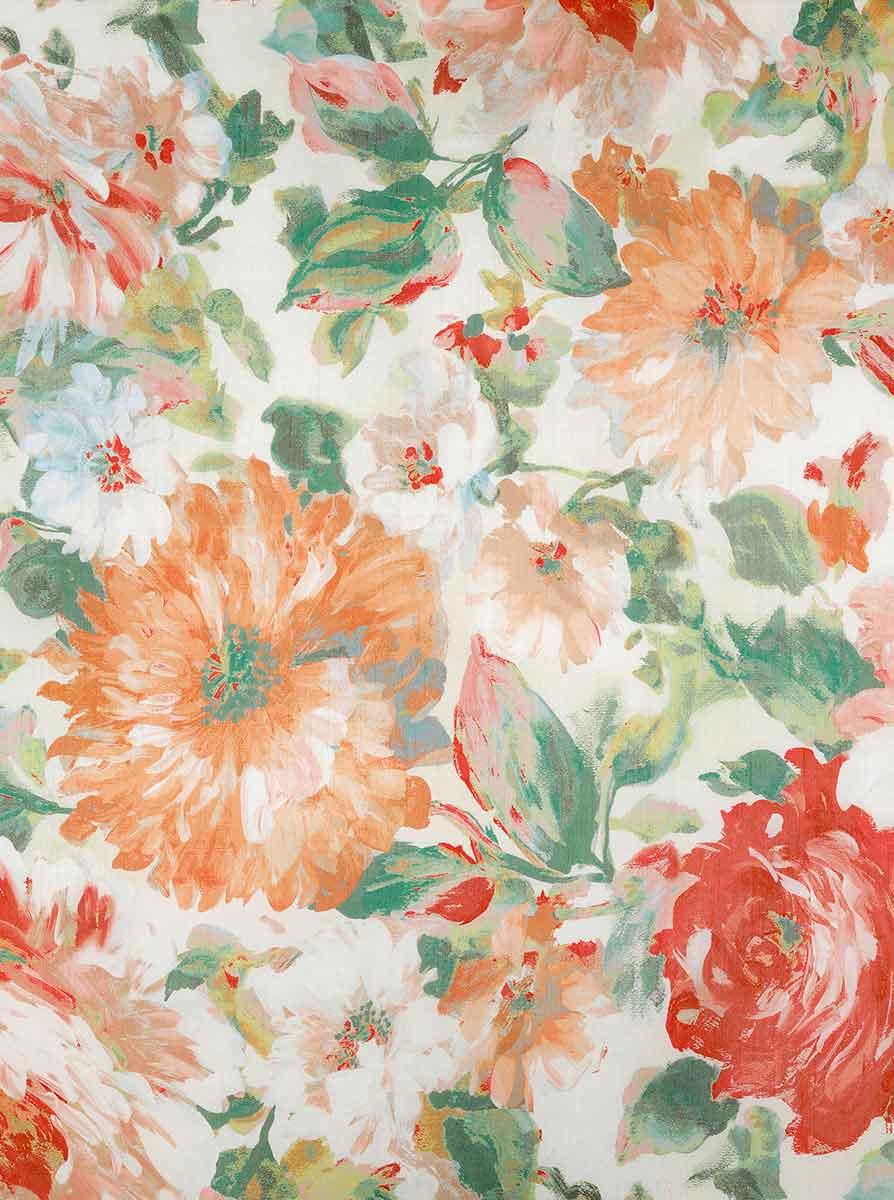 Rideau Esprit Romantique et Fleuri - Jaune - 150 x 260 cm