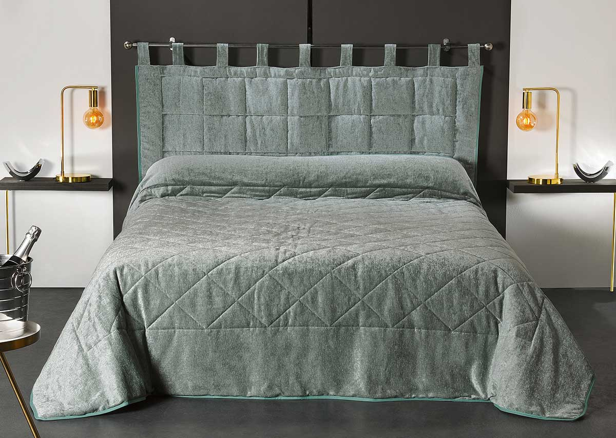 Tête de Lit Aspect Velours - Vert - 160 x 70 cm