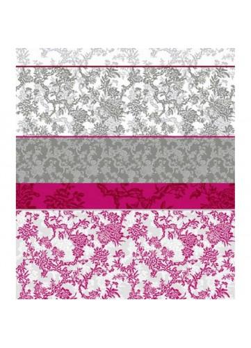 Tissu bicolore effet toile de Jouy