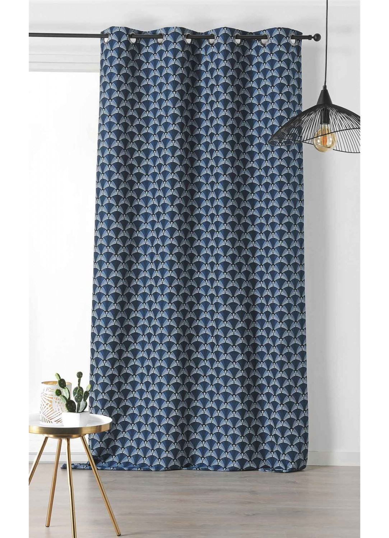 rideau d ameublement style ann e 30 bleu fonc vert. Black Bedroom Furniture Sets. Home Design Ideas