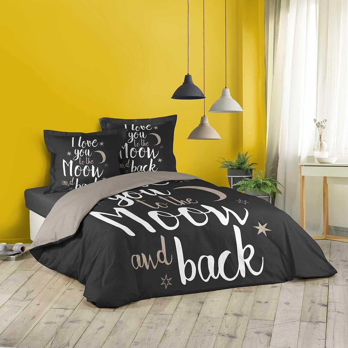 HomeMaison Parure de lit pour 2 Personnes Etoiles arrondies