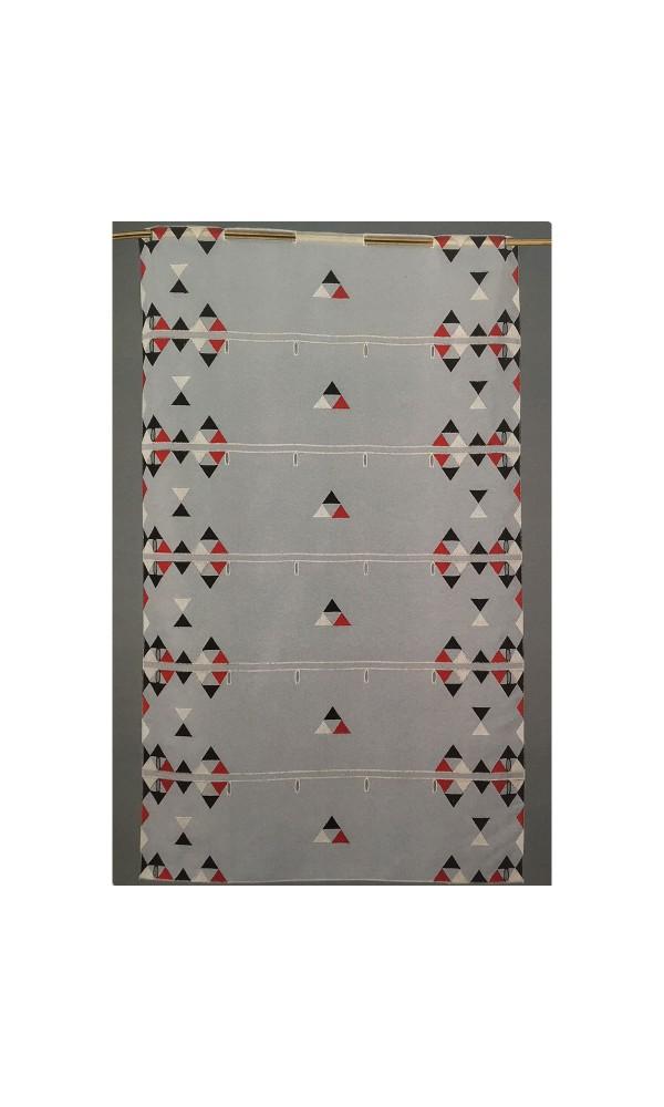 Brise bise modulable en voile brodé de triangles colorés