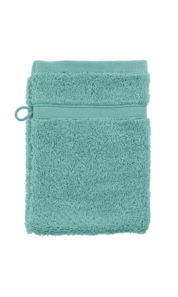Gant de Toilette en Coton Peigné Uni 600 gr/m²  (Blanc)