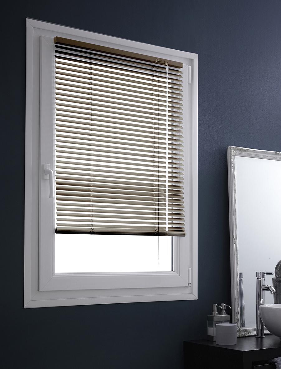 store v nitien en aluminium fixation sans percer ficelle noir gris chocolat rouge. Black Bedroom Furniture Sets. Home Design Ideas