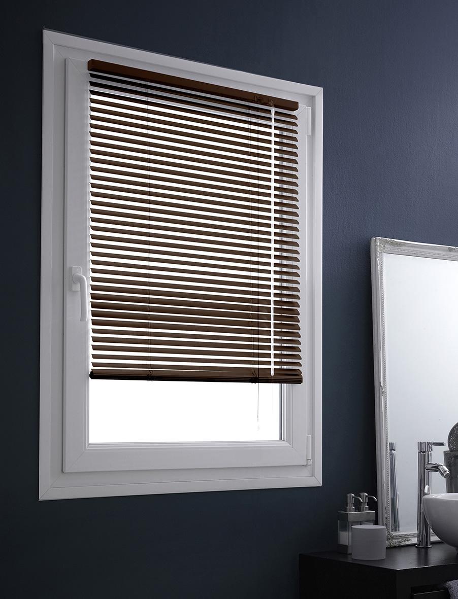 store v nitien en aluminium fixation sans percer chocolat noir gris rouge gris. Black Bedroom Furniture Sets. Home Design Ideas
