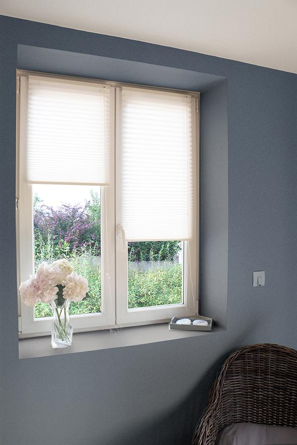 store pliss fixation sans percer blanc homemaison. Black Bedroom Furniture Sets. Home Design Ideas