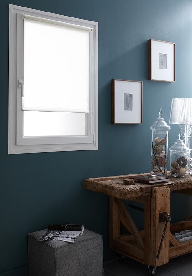 Store Enrouleur Occultant Fixation Sans Percer - Blanc - 52 x 170 cm