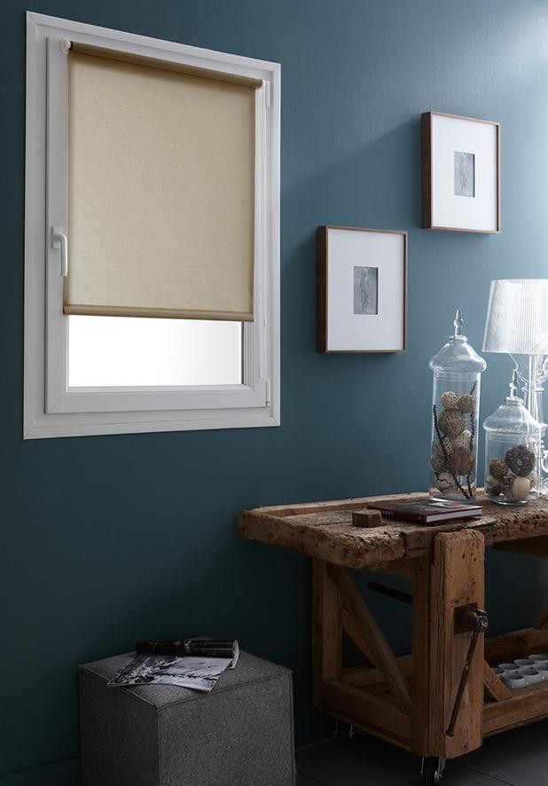 store enrouleur occultant fixation sans percer sable. Black Bedroom Furniture Sets. Home Design Ideas