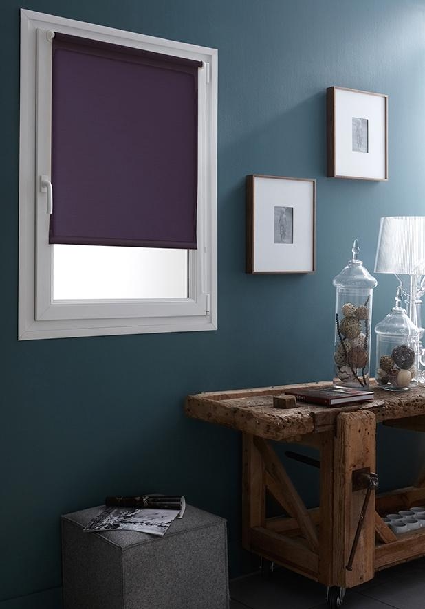 store enrouleur occultant fixation sans percer violine. Black Bedroom Furniture Sets. Home Design Ideas
