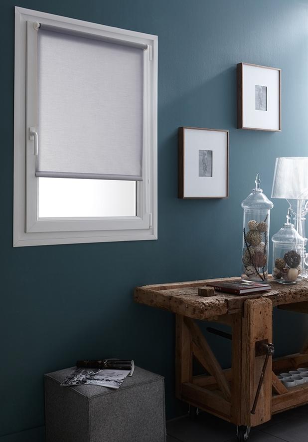 Store Enrouleur Tamisant Uni Fixation Sans Percer - Gris clair - 42 x 170 cm