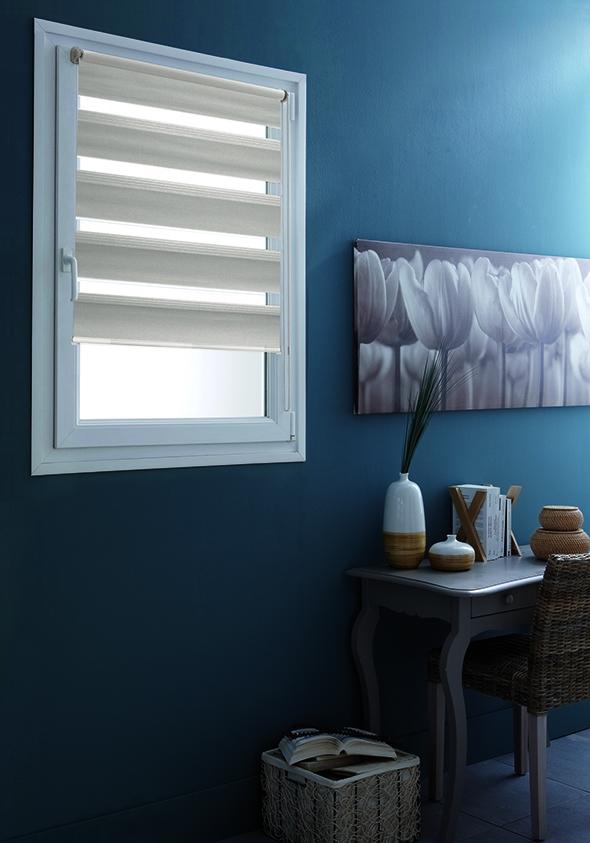 store enrouleur jour nuit teintes de gris taupe gris gris clair homemaison vente. Black Bedroom Furniture Sets. Home Design Ideas