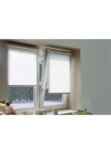 Store Enrouleur Ajouré Fixation Sans Percer - Blanc - 62 x 170 cm
